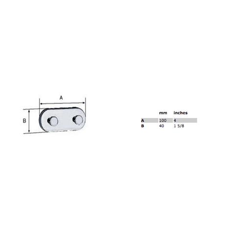 Smedbo Loft haak dubbel 10 cm chroom