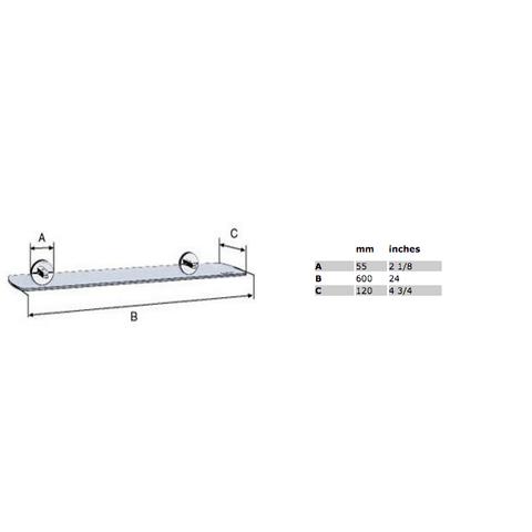 Smedbo Loft planchet 60cm chroom
