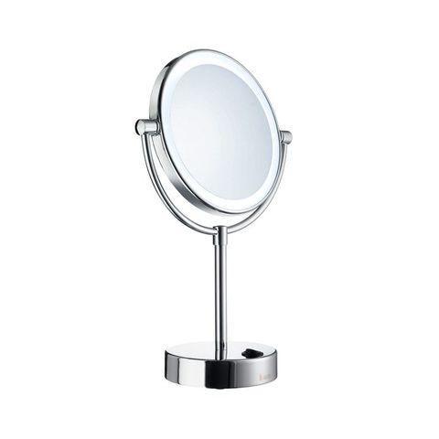 Smedbo Outline LED make-up spiegel vrijstaand chroom