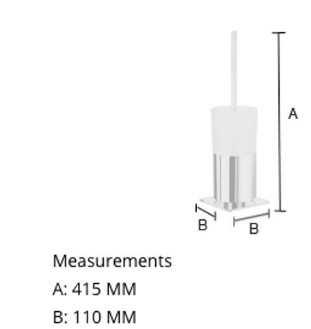 Smedbo Outline toiletborstelgarnituur chroom matglazen houder