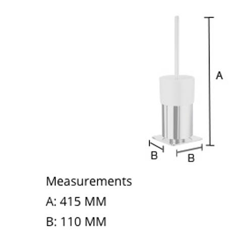 Smedbo Outline toiletborstelgarnituur chroom porseleinen houder