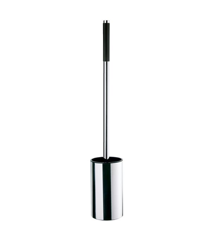 Smedbo Outline toiletborstelhouder chroom lange schacht met zwarte greep