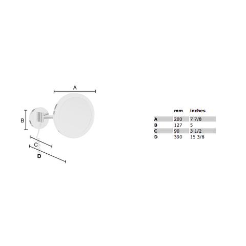 Smedbo Outline vergrotingsspiegel met LED verlichting rond chroom