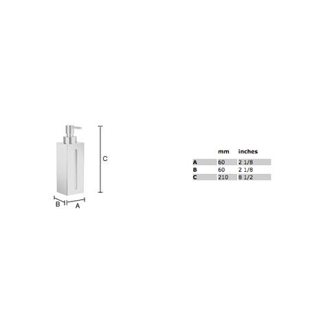 Smedbo Outline zeepdispenser 1 voudig chroom