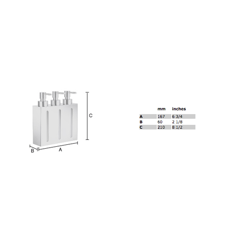 Smedbo Outline zeepdispenser 3 voudig chroom