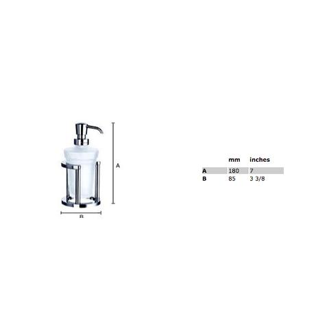 Smedbo Outline zeepdispenser matglas chroom