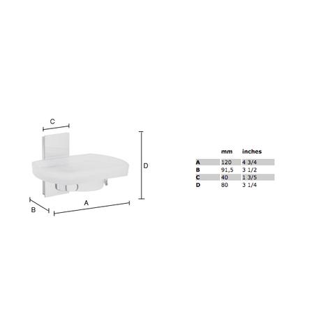Smedbo Pool zeepschaal chroom