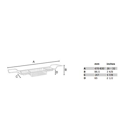 Smedbo Sideline badbrug verstelbaar chroom