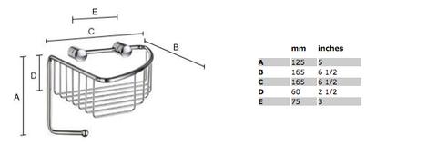 Smedbo Sideline basic hoek douchekorf 16,5x16,5 cm chroom