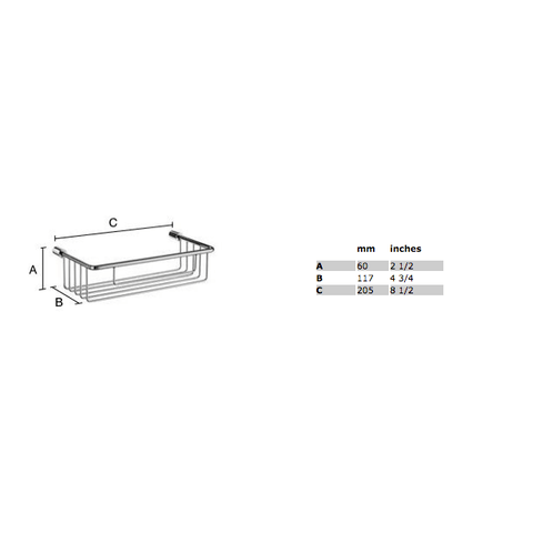 Smedbo Sideline basic zeepkorf 21,5x11,7 cm chroom