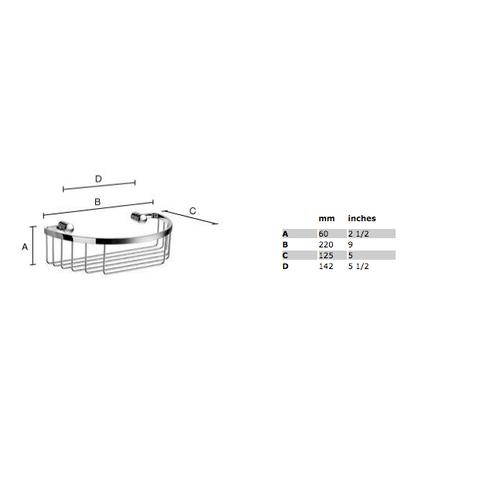 Smedbo Sideline douchekorf 22x12,5 cm chroom