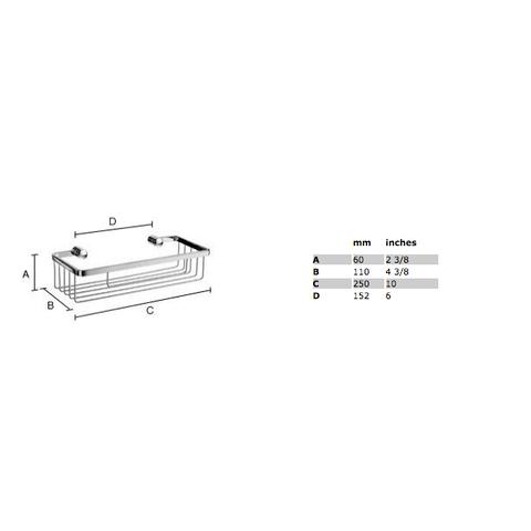 Smedbo Sideline douchekorf 25x11 cm chroom