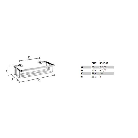 Smedbo Sideline douchekorf 25x11 cm mat-chroom