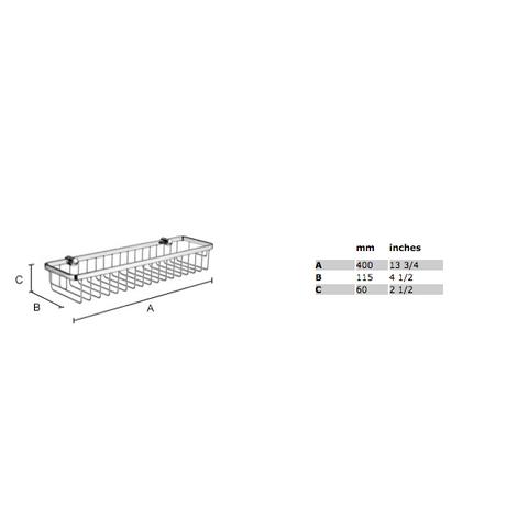 Smedbo Sideline douchekorf 40x11,5 cm chroom