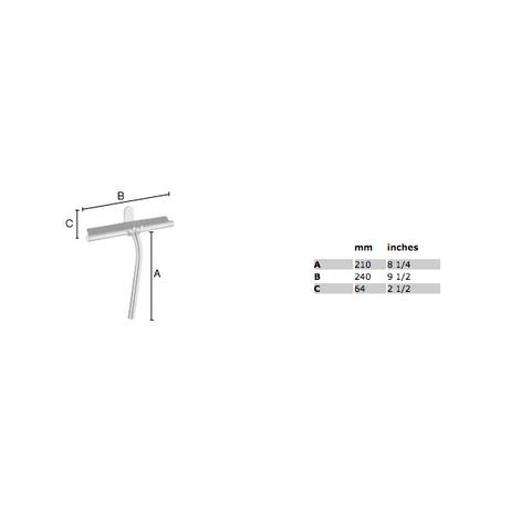 Smedbo Sideline douchewisser 24x21 cm met glashouder chroom