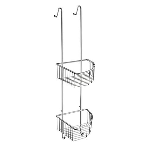 Smedbo Sideline hoek douchekorf dubbel voor glasbevestiging chroom
