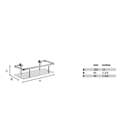 Smedbo Sideline zeephouder 25x10,3 cm met bodemplaat wit Solid Surface