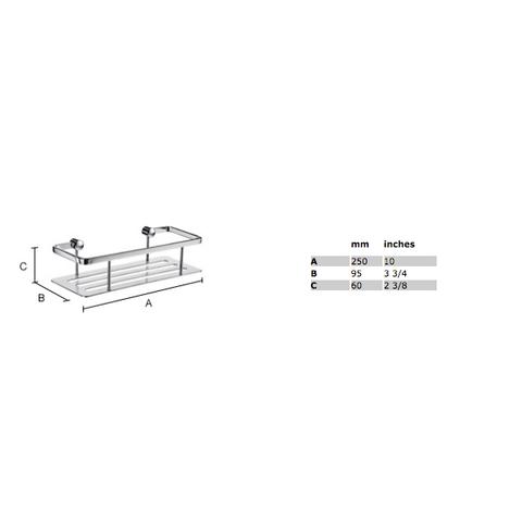Smedbo Sideline zeephouder 25x10,3 cm met bodemplaat zwart Solid Surface