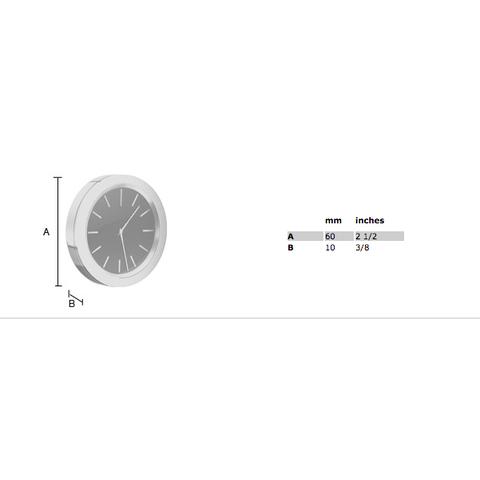 Smedbo Time klok 6cm zwart/chroom