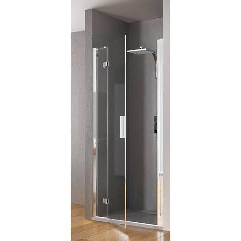 Kinedo Kinespace draaideur 140 x 200 cm. met vast paneel links chroom-helder glas