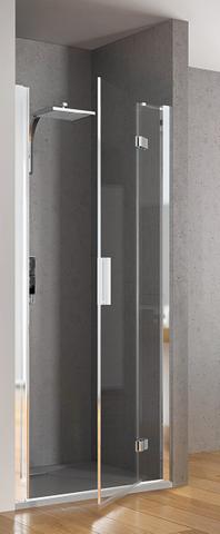 Kinedo Kinespace draaideur 150 x 200 cm. met vast paneel rechts chroom-helder glas