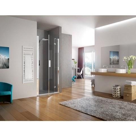 Kinedo Kinespace draaideur 170 x 200 cm. met vast paneel rechts chroom-helder glas