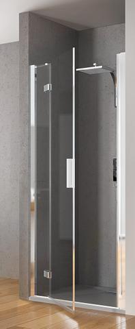 Kinedo Kinespace draaideur 180 x 200 cm. met vast paneel links chroom-helder glas