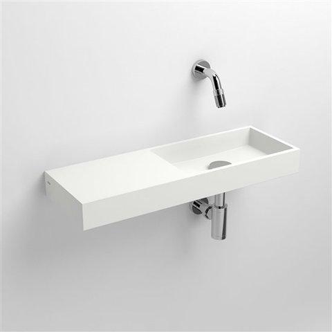 Clou Mini Wash Me fontein 56cm zonder kraangat - links - aluite