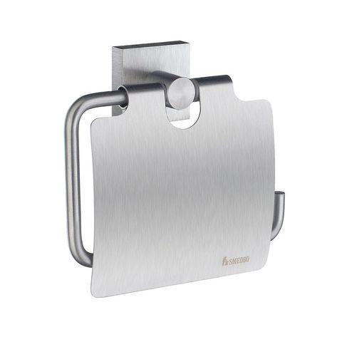 Smedbo House toiletrolhouder met klep mat-chroom