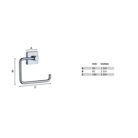 Smedbo House toiletrolhouder zonder klep mat-chroom