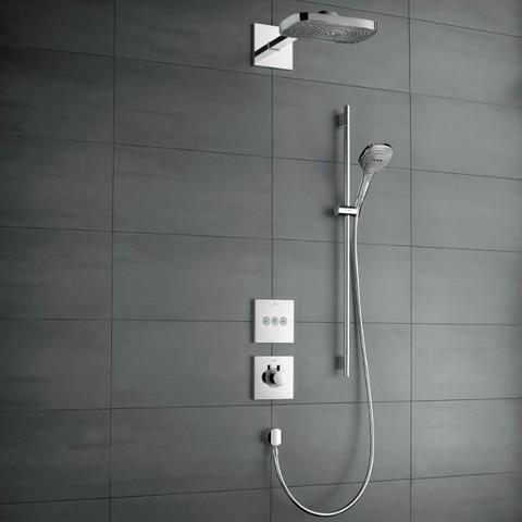 Hansgrohe Showerselect inbouw doucheset met Raindance Select E hoofddouche 3jet en glijstang chroom