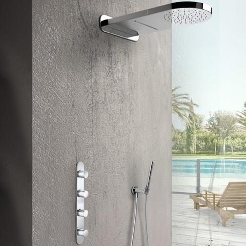 Hotbath Buddy inbouw doucheset met 2-jet hoofddouche chroom