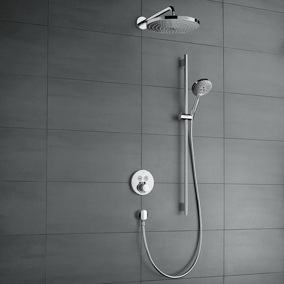 Hansgrohe ShowerSelect S inbouw doucheset met Raindance Select S hoofddouche 2jet en glijstang chroom
