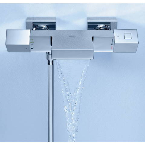 Grohe Grohtherm Cube badthermostaat met staafhanddouche, houder & slang chroom