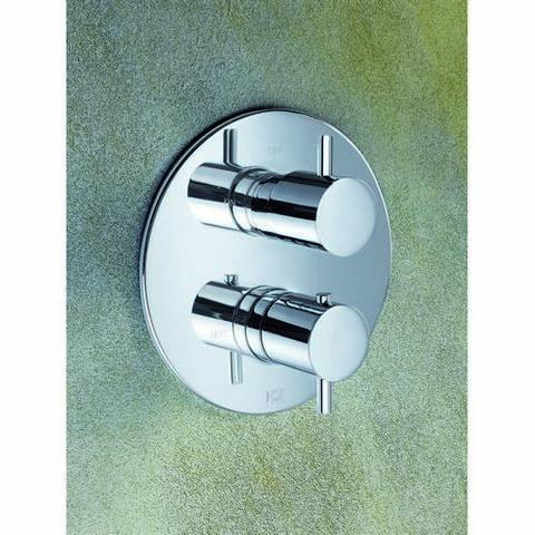 Hotbath Laddy Inbouwset rond voor bad met uitloop & badset chroom
