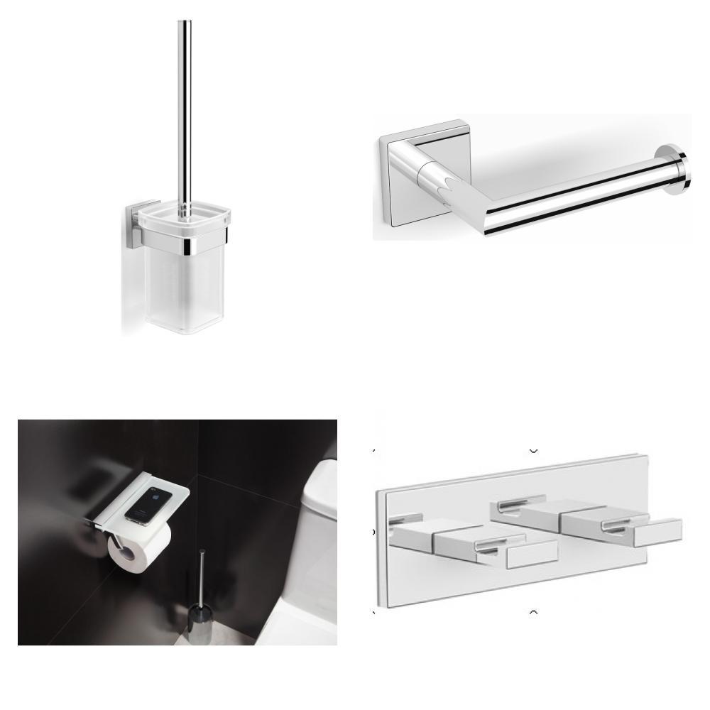 Blinq Philadelphia toilet accessoires set chroom