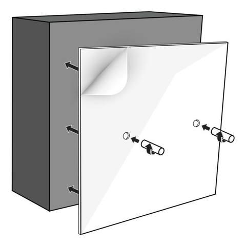 Looox Colour Box opbouw montageset 60x30cm