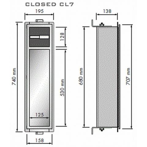 Looox Closed inbouw closetborstel / rolhouder rvs geborsteld