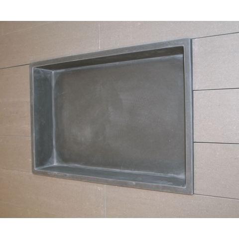 Luca Sanitair  nis in of opbouw 44,5x29,5x8cm stone resin antraciet mat