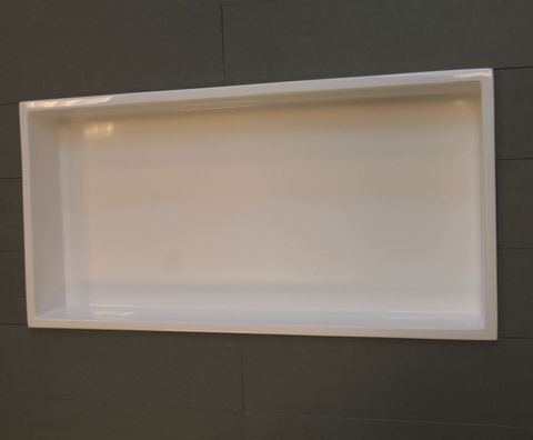 Luca Sanitair  nis in of opbouw 59,5x29,5x8cm stone resin wit glans
