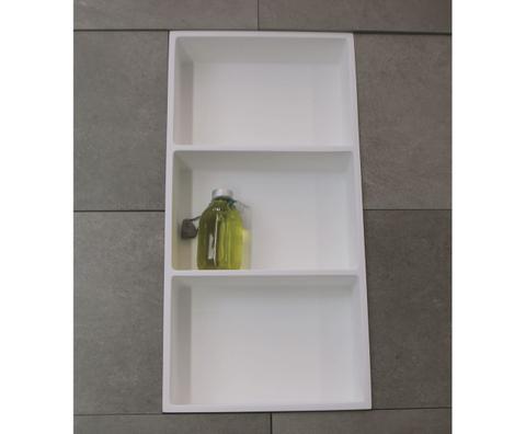 Luca Sanitair  nis in of opbouw 59,5x29,5x8cm met 3 schappen solid surface mat wit