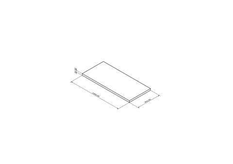 Blinq Tutto afdekplaat 100x45x3,2 cm. essen wit