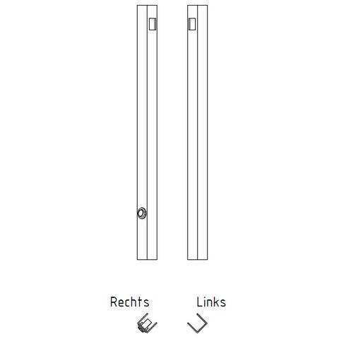 Blinq Gefion spiegel 80x60 bxh m/bevestigingsprofiel+schakelaar