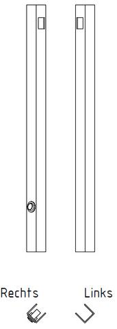 Blinq Gefion spiegel 80x40 cm. bxh met bevestigingsprofiel