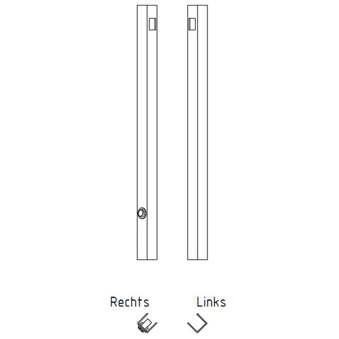 Blinq Gefion spiegel 90x60 bxh m/bevestigingsprofiel+schakelaar