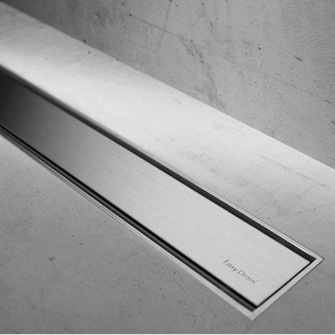 Easydrain Compact 50 TAF Low tegel douchegoot 90 cm. m1 waterslot 50 mm. rvs