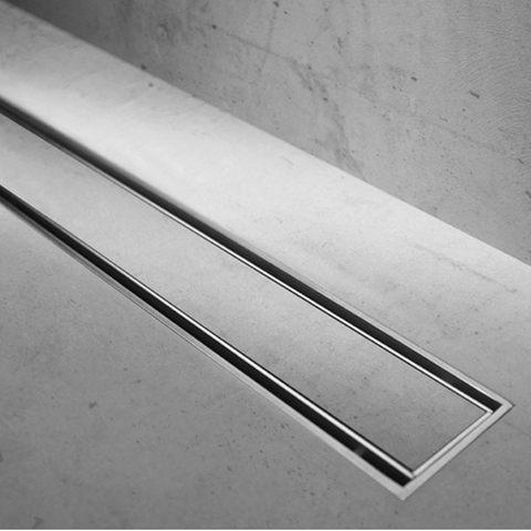 Easydrain Compact 50 TAF Low tegel douchegoot 80 cm. m1 waterslot 50 mm. rvs