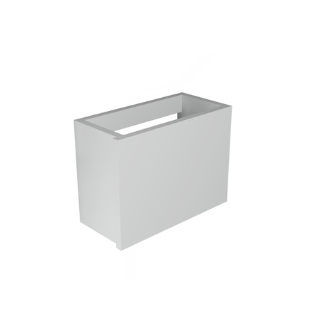 Blinq Tutto fonteinonderkast 36x18 cm. deur universeel hoogglans wit