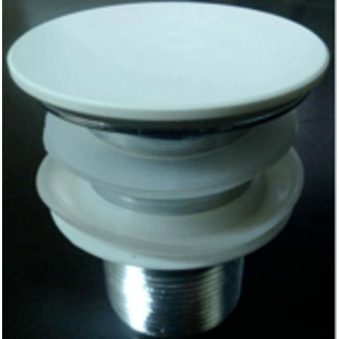 Ideavit wastafelplug klikplug vlak oppervlak mat wit