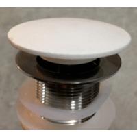 Ideavit wastafelplug afsluitbaar met een bol oppervlak mat wit